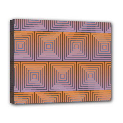 Brick Wall Squared Concentric Squares Deluxe Canvas 20  X 16   by Simbadda