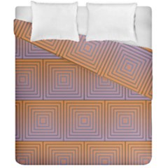 Brick Wall Squared Concentric Squares Duvet Cover Double Side (california King Size) by Simbadda