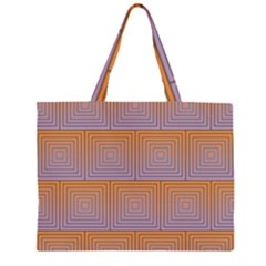 Brick Wall Squared Concentric Squares Zipper Large Tote Bag