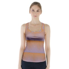 Brick Wall Squared Concentric Squares Racer Back Sports Top