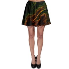 Abstract Glowing Edges Skater Skirt by Simbadda