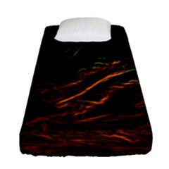 Abstract Glowing Edges Fitted Sheet (single Size)