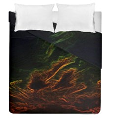 Abstract Glowing Edges Duvet Cover Double Side (queen Size)