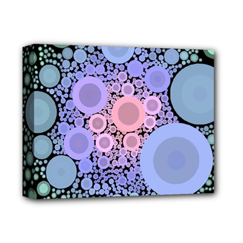 An Abstract Background Consisting Of Pastel Colored Circle Deluxe Canvas 14  X 11  by Simbadda