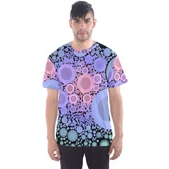 An Abstract Background Consisting Of Pastel Colored Circle Men s Sport Mesh Tee