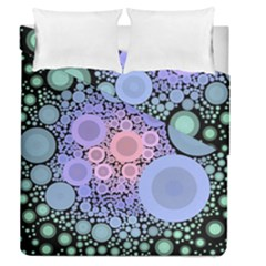 An Abstract Background Consisting Of Pastel Colored Circle Duvet Cover Double Side (queen Size)
