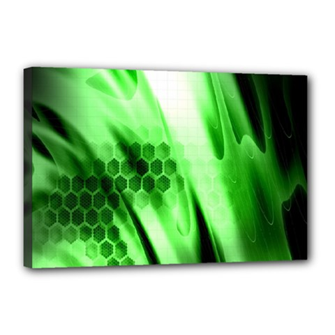 Abstract Background Green Canvas 18  X 12