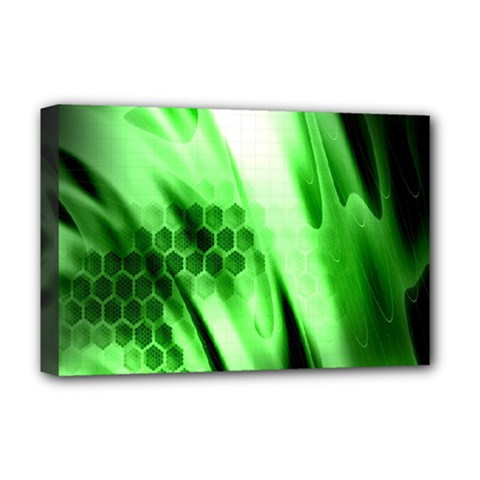 Abstract Background Green Deluxe Canvas 18  X 12