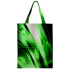 Abstract Background Green Zipper Classic Tote Bag by Simbadda