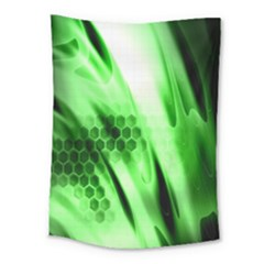 Abstract Background Green Medium Tapestry