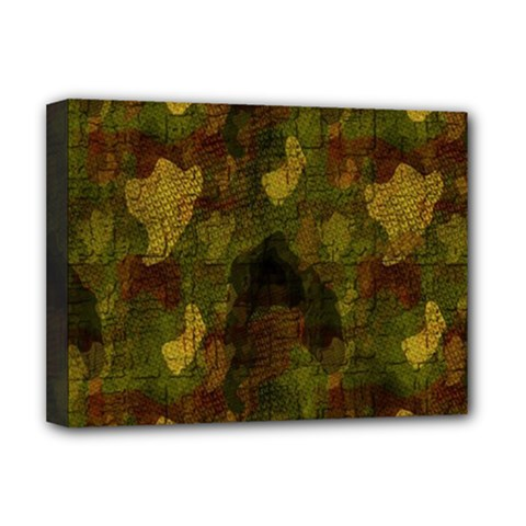 Textured Camo Deluxe Canvas 16  X 12