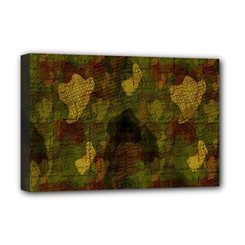 Textured Camo Deluxe Canvas 18  X 12   by Simbadda