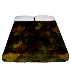 Textured Camo Fitted Sheet (california King Size) by Simbadda