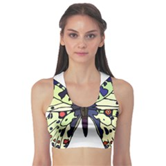A Colorful Butterfly Image Sports Bra