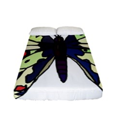 A Colorful Butterfly Image Fitted Sheet (full/ Double Size) by Simbadda