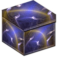 Fractal Magic Flames In 3d Glass Frame Storage Stool 12   by Simbadda
