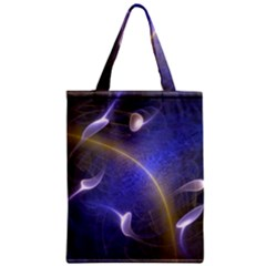 Fractal Magic Flames In 3d Glass Frame Zipper Classic Tote Bag by Simbadda