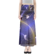 Fractal Magic Flames In 3d Glass Frame Maxi Skirts by Simbadda