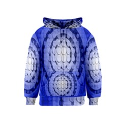 Abstract Background Blue Created With Layers Kids  Zipper Hoodie