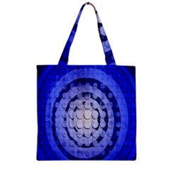 Abstract Background Blue Created With Layers Zipper Grocery Tote Bag by Simbadda