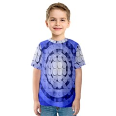 Abstract Background Blue Created With Layers Kids  Sport Mesh Tee