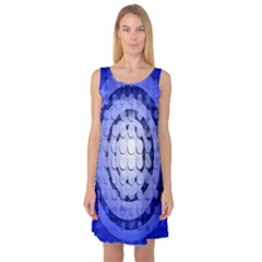 Abstract Background Blue Created With Layers Sleeveless Satin Nightdress