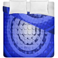 Abstract Background Blue Created With Layers Duvet Cover Double Side (king Size) by Simbadda