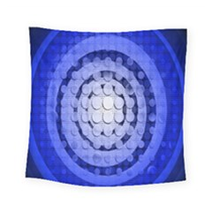 Abstract Background Blue Created With Layers Square Tapestry (small) by Simbadda