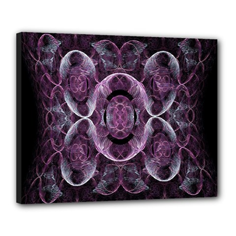 Fractal In Lovely Swirls Of Purple And Blue Canvas 20  X 16  by Simbadda