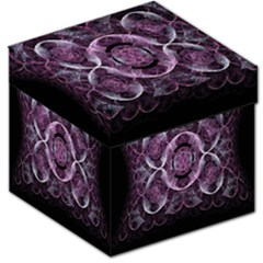 Fractal In Lovely Swirls Of Purple And Blue Storage Stool 12   by Simbadda