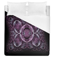 Fractal In Lovely Swirls Of Purple And Blue Duvet Cover (queen Size)