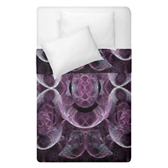 Fractal In Lovely Swirls Of Purple And Blue Duvet Cover Double Side (single Size) by Simbadda