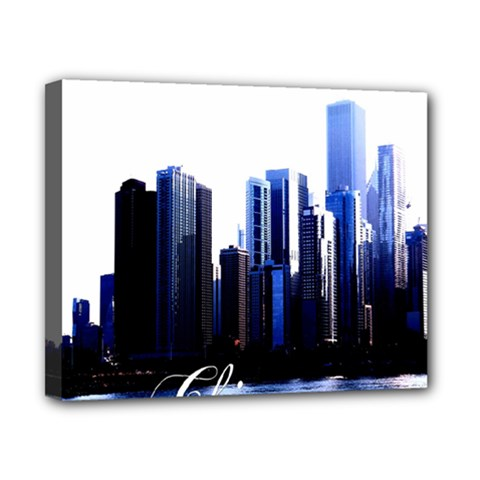 Abstract Of Downtown Chicago Effects Canvas 10  X 8  by Simbadda