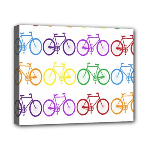 Rainbow Colors Bright Colorful Bicycles Wallpaper Background Canvas 10  X 8