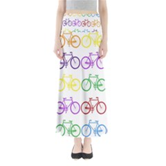 Rainbow Colors Bright Colorful Bicycles Wallpaper Background Maxi Skirts
