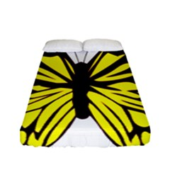 Yellow A Colorful Butterfly Image Fitted Sheet (full/ Double Size) by Simbadda