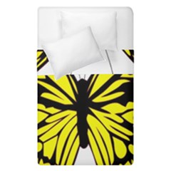 Yellow A Colorful Butterfly Image Duvet Cover Double Side (single Size) by Simbadda