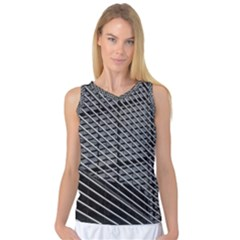 Abstract Architecture Pattern Women s Basketball Tank Top by Simbadda