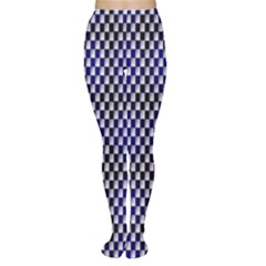 Squares Blue Background Women s Tights by Simbadda