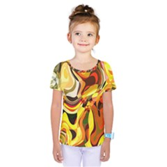 Colourful Abstract Background Design Kids  One Piece Tee