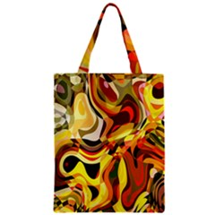 Colourful Abstract Background Design Zipper Classic Tote Bag by Simbadda