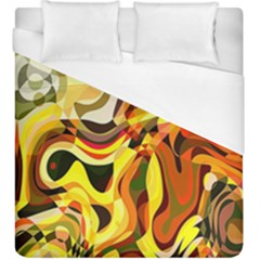 Colourful Abstract Background Design Duvet Cover (king Size) by Simbadda