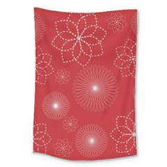 Floral Spirals Wallpaper Background Red Pattern Large Tapestry