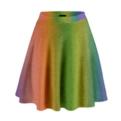 Colorful Stipple Effect Wallpaper Background High Waist Skirt by Simbadda