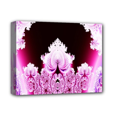 Fractal In Pink Lovely Deluxe Canvas 14  X 11  by Simbadda