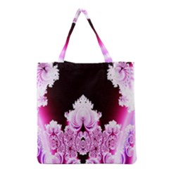 Fractal In Pink Lovely Grocery Tote Bag by Simbadda