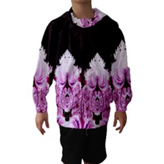 Fractal In Pink Lovely Hooded Wind Breaker (kids) by Simbadda