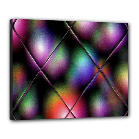 Soft Balls In Color Behind Glass Tile Canvas 20  X 16