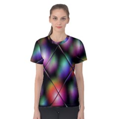 Soft Balls In Color Behind Glass Tile Women s Cotton Tee by Simbadda