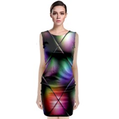 Soft Balls In Color Behind Glass Tile Classic Sleeveless Midi Dress